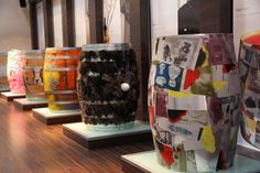 Curioso Museo de arte en barricas. Art and recycling wine barrels