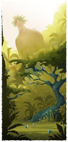 """Kane"" from the Hawaiian Gods and Goddesses series | Illustrator: Brittney Lee"