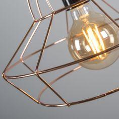Lámpara colgante FRAME D cobre #iluminacion #decoracion #interiorismo