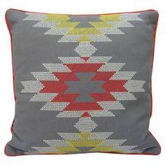 "Room Essentials™ Southwest Cross-stitch Pillow (18x18"") : Target"