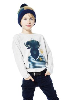 A playful buffalo print adds a whimsical sense of spirit to this comfortable Jersey T-Shirt with Bison. See more of our Back To School Collection for boys and girls