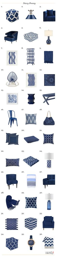 pantone navy peony, interior product roundup, get the look, color for interiors, interior styling, interior design, navy blue, cobalt blue, indigo blue, royal blue, dark blue