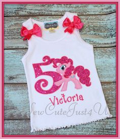 Pinkie Pie Birthday Number Tank by SewCuteJust4U on Etsy, $23.50