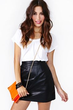 Leather skirt ♥ Lederrock ♡ Deri etek ♥ | Mode | Pinterest ...