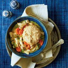 Back-to-School Slow Cooker Recipes | Chicken and Cornbread Dumplings  | MyRecipes.com
