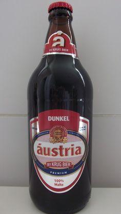 Cerveja Áustria Dunkel, estilo Munich Dunkel, produzida por Krug Bier, Brasil. 4.7% ABV de álcool.