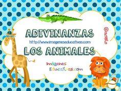 Trabajamos con adivianzas de animales, conciencia lingüística (1) Africa, Activities, How To Plan, Education, Math, Comics, Montessori, Spanish, Children's Literature