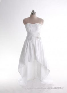 Empire Waist Sweep / Brush Train Sleeveless Taffeta Elegant Bridal Gown