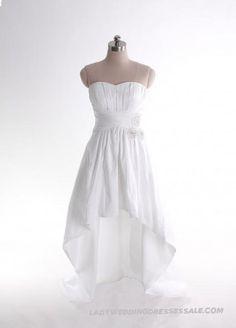 Empire Waist Sweep / Brush Train Sleeveless Taffeta Elegant Bridal Gown