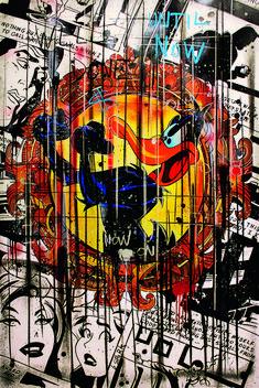 """Until now on"" - acrylique sur toile - - Benjamin Spark Disney Pop Art, Tableau Pop Art, Foto Top, Mickey Mouse Wallpaper, Dark Art Drawings, Hippie Art, Arte Pop, Dope Art, Street Art Graffiti"