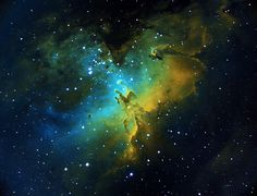 M16 Eagle Nebula Space Planets, Space And Astronomy, Science Art, Science And Nature, Eagle Nebula, Arte Tribal, Wallpaper Space, Galaxy Space, To Infinity And Beyond