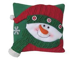 Almofada Natal Snowman - 34x34cm Xmas, Christmas Ornaments, Christmas Pillow, Jingle Bells, Christmas Projects, Pillow Covers, Hobbit, Crochet Hats, Pillows