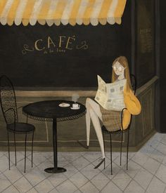 Cafe girl by Taryn Knight
