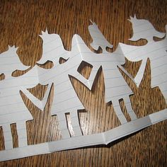 ah yes, and than paper cutouts...loved to see how long I could make the chain.