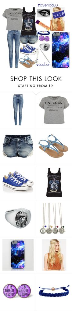 """Ravenclaw, Vacation"" by half-blood-outfits ❤ liked on Polyvore featuring H&M, VILA, Monsoon, Converse, ASOS, Domo Beads and Burt's Bees"