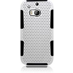 Eaglecell Hybrid Mesh HTC One M8 Case - White/Black