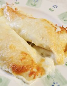 Creamy Chicken Enchiladas. These are the BEST chicken enchiladas I have ever had!