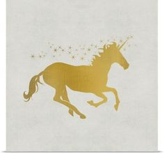 Unicorn Gold I Wall Art by Kimberly Allen from Great BIG Canvas. Give your walls a touch of whimsy with dreamy wall art from Great BIG Canvas! Gold Canvas, Canvas Wall Art, Canvas Prints, Art Prints, Big Canvas, Gold Wall Art, Gold Art, Framed Art, Unicorn Wall Art