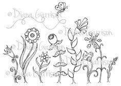 Garden Party Digi Digital Stamp