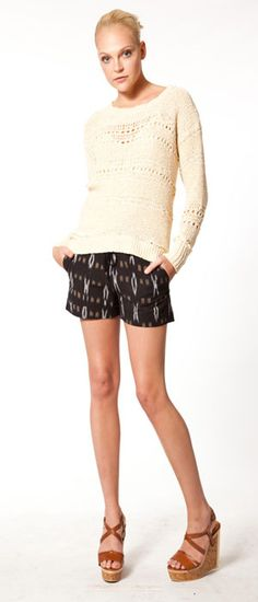 cynthia vincent, shorts sweater & shoes!