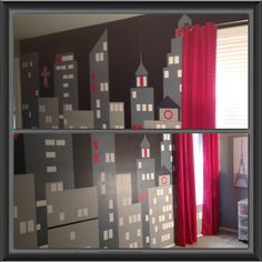 I painted this wall in my daughter 39 s bedroom i got the for City themed bedroom accessories