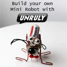 One for slightly older kids, my neighbour's 8yrs old boy LOVED making these - mini robots - so cool and relatively easy!!