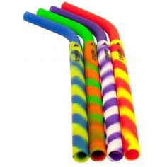 Silicone drinking straws 4 pack - tye dye by Greenpaxx