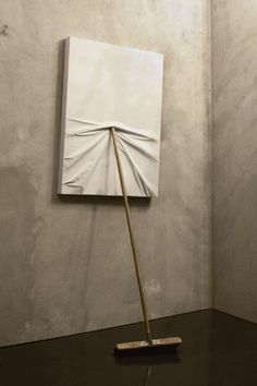 Maurizio Cattelan Untitled 2009 Painting pushed away :D