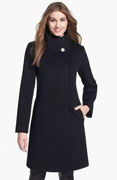 Fleurette Stand Collar Wool Coat 9a3bc5ebc9d