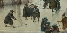 Ice hockey 17th century style!  (Hendrick Avercamp, ca. 1608, Rijksmuseum Amsterdam).
