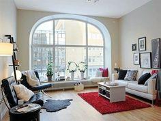 10 Diseños de interiores en departamentos que inspiran a cualquiera http://www.arquitexs.com/2011/10/10-disenos-de-salas-de-estar.html