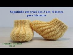 Knitting baby shoes from 3 to 6 months for beginne - Tricot Pontos Knit Baby Shoes, Baby Booties Knitting Pattern, Baby Knitting Patterns, Baby Patterns, Knitting Videos, Crochet Videos, Slipper Boots, Boot Cuffs, Baby Kind