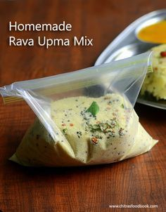 Instant rava upma mix - Homemade upma mix - Very helpful for bachelors and working women to make a quick food :)