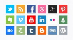 10 Free Vector Social Media Icon Sets You Have Got to See Social Media Icons, Social Media Tips, Social Media Marketing, Social Networks, Web Design, Graphic Design, Icon Design, Marketing Digital, Online Marketing