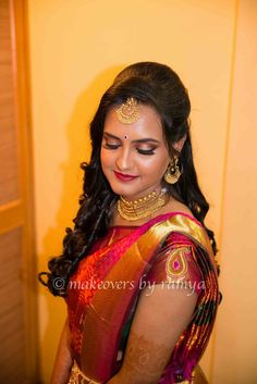 South Indian Bride Reception Hairstyle South Indian Bride