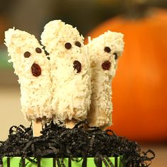 Banana Ghost Pop Recipe For Healthy Halloween Treat
