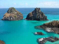 Fernando de Noronha in Brazil is a island, a volcanic archipelago about 350 kilometers off Brazil's northeast coast. Fernando de Noronha comprises of 21 islands. Find more about the place. Barbados Beaches, Barbados Travel, Colombia Travel, Singapore Island, Singapore Travel, Thailand Beach, Philippines Vacation, Visit Brazil, Paradise On Earth