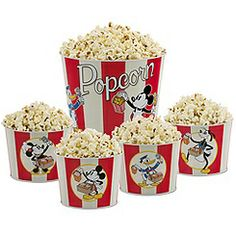 Mickey Mouse and Friends Popcorn Bucket Set -- 5-Pc.