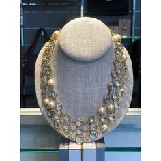 dcfc59b3f926 Chanel Pearlescent Gold Tone Sautoir Necklace Call 215.794.0422 for more  details