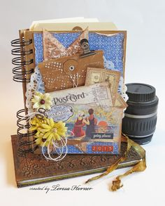 Journal using Travel Creative Scraps by Victorian Paper Queen for Crafty Secrets Linky Party and Summer DT Challenge