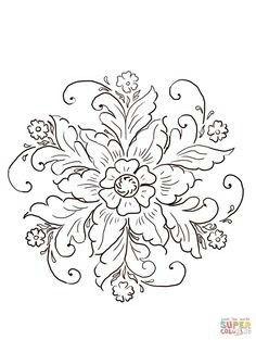 Floral designs threadart pinterest holz drechseln for Norwegian flower tattoo