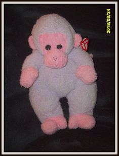 Baby TY -  MONKEYBABY the Monkey Plush with rattle inside ~ 1999, Rare NEW #Ty