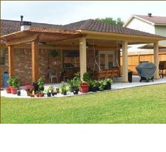 how to add a pergola next to an existing covered patio - Google Search