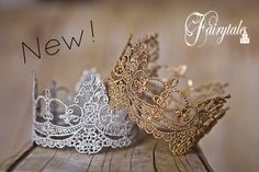 Exquisite Delicate Crown Prop Baby ANY color by greenearthstudio