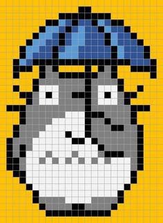 Totoro pixel quilt