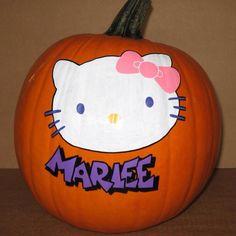 Hello Kitty pumpkin.