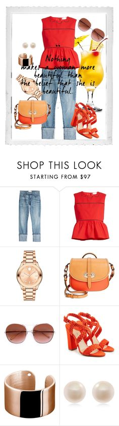 """""""summer"""" by froso-ziakou on Polyvore featuring Polaroid, Current/Elliott, RED Valentino, Movado, Dooney & Bourke, Chloé, Paul Andrew, Ekria and Links of London"""