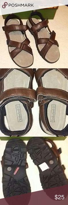 NIB TIMBERLAND SANDALS 13M NIB TIMBERLAND SANDALS DARK BROWN LEATHER SANDALS SIZE 13M Timberland Shoes Sandals & Flip-Flops