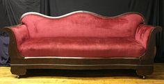 Antique Victorian Parlor Old Raspberry Color by ScrantonAttic, $799.99