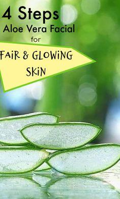 4 steps aloe vera facial to get fair skin at home Beauty Care, Beauty Skin, Aloe Vera Facial, Beauty Hacks For Teens, Natural Beauty Tips, Fair Skin, Facial Diy, Beauty Routines, Glowing Skin